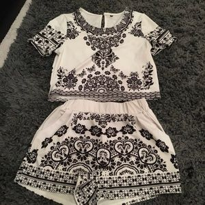 Shorts and top set